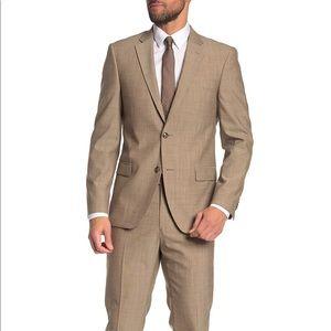 Woolen Front Button Solid 2-Piece Suit